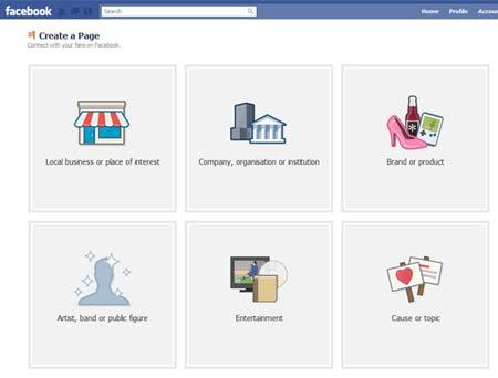 facebook-fanpage create