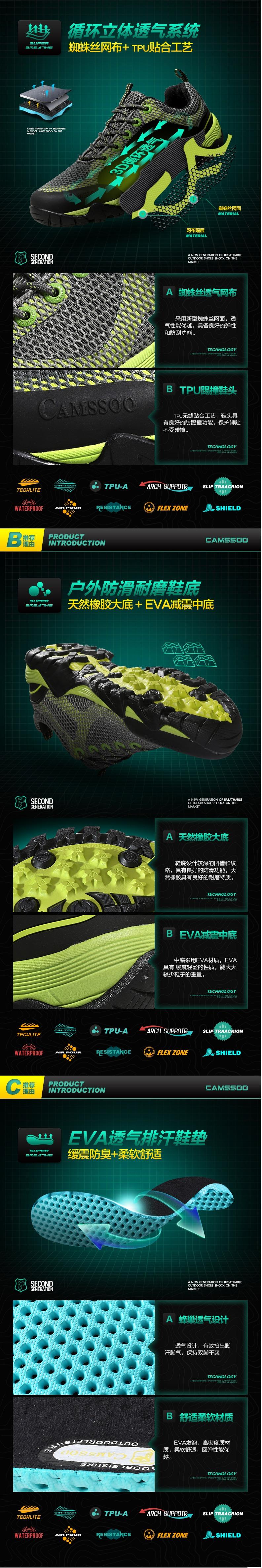 รองเท้าชาย  รองเท้าเดินป่าCamel 39-44