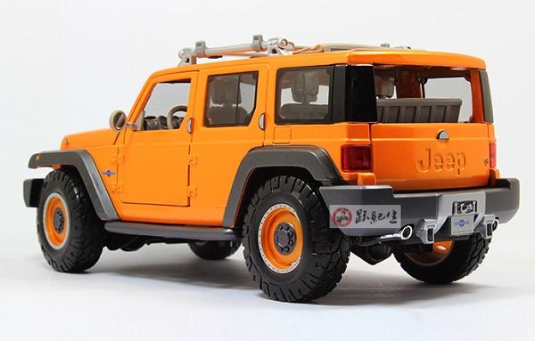 โมเดลรถ โมเดลรถเหล็ก โมเดลรถยนต์ Jeep Wrangler Rescue orange 4