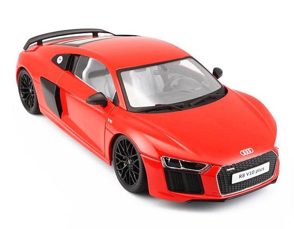 โมเดลรถประกอบ รถเหล็กประกอบ โมเดลรถเหล็กประกอบ, โมเดลรถยนต์ประกอบ Audi R8 V10 red 2