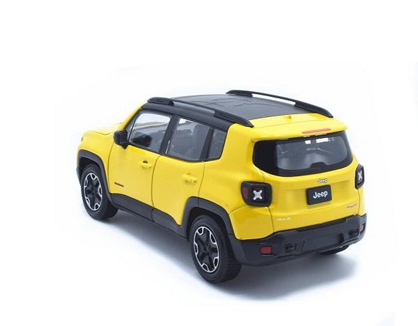 โมเดลรถเหล็ก โมเดลรถยนต์ Jeep Renegade Trailhawk yellow 2
