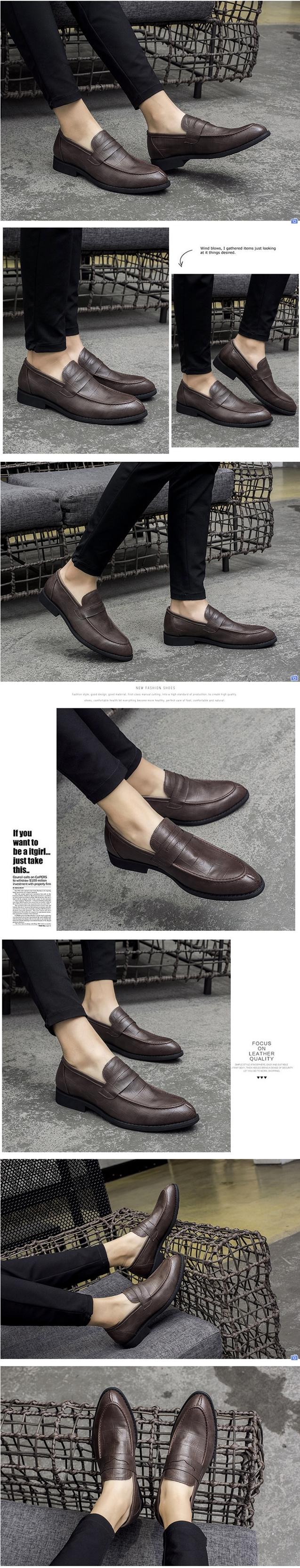 รองเท้าชาย รองเท้าหนังนิ่มลำลองสไตล์อังกฤษ