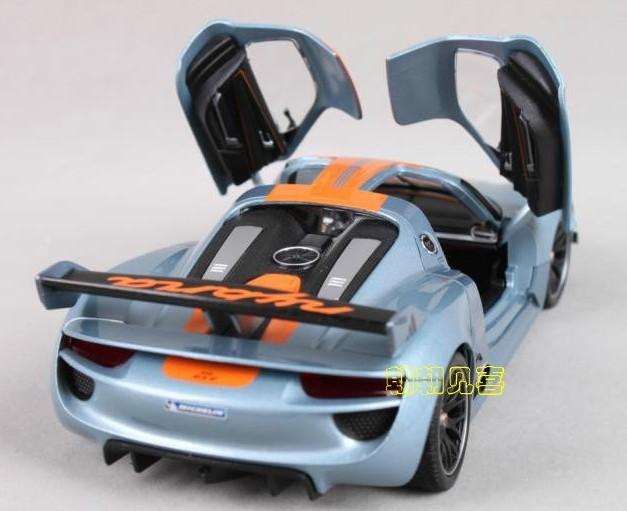 โมเดลรถเหล็ก โมเดลรถยนต์ Porsche 918 RSR 7
