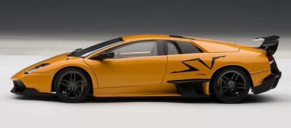 โมเดลรถ โมเดลรถยนต์ โมเดลรถเหล็ก lamborghini LP670-4 SV orange 3