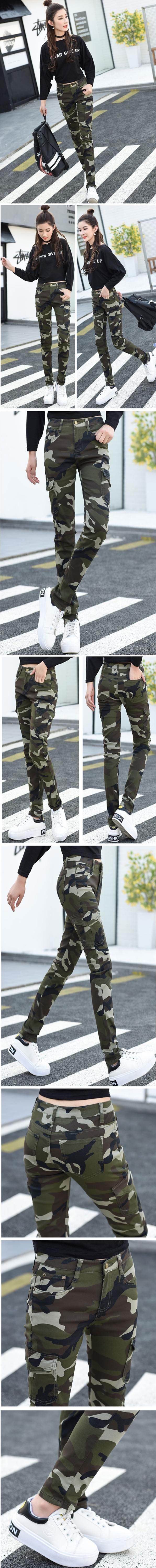 กางเกงลายพรางขายาว กางเกงบุขน