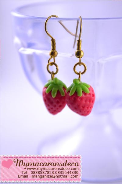 Earring : สตอเบอรี่แดง