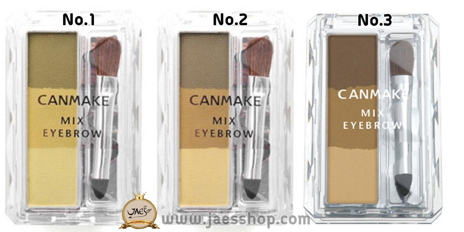 Canmake - Mix Eyebrow #No.01 Yellow Brown