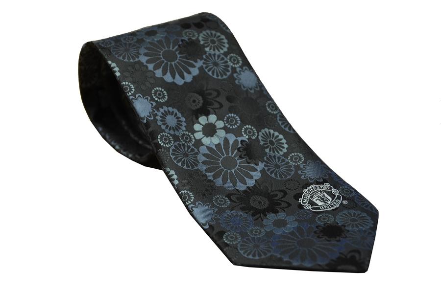 เนคไทแมนเชสเตอร์ ยูไนเต็ด Manchester United Black Floral Tie ของแท้ 100%