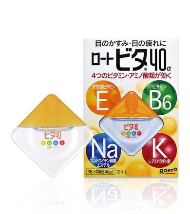 Rohto Cool Vita 40 Alpha Eyedrops ยาหยอดตาสูตรเย็นระดับ 3 ผสมวิตามิน E,B6,Na บำรุงตาที่อ่อนล้าให้สะอาดชุ่มชื่น