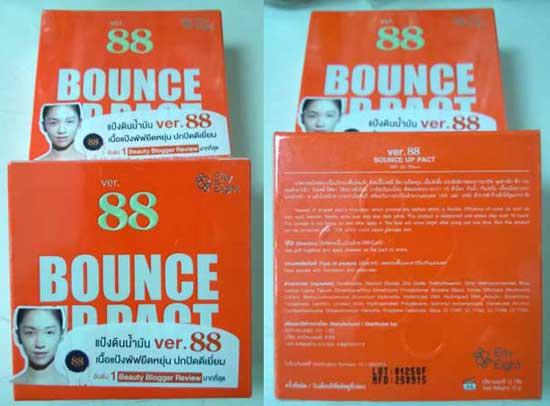 แป้งดินน้ำมัน Ver.88 BOUNCE UP PACT SPF 50+/PA++