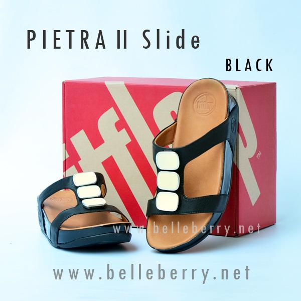 **พร้อมส่ง** FitFlop Pietra II Slide : Black : Size US 6 / EU 37