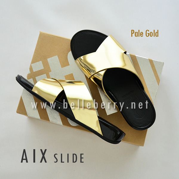 * NEW * FitFlop AIX Slide : Pale Gold : Size US 8 / EU 39