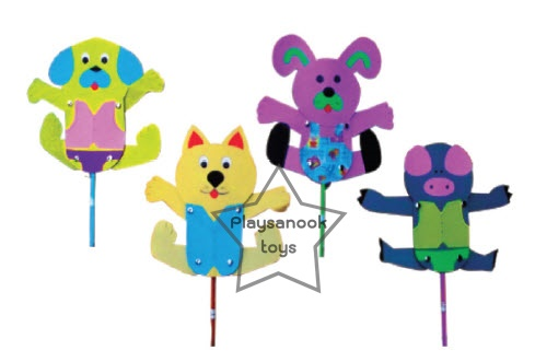 SKK-06 ชุดหุ่นชัก (หมา,แมว,กระต่าย,หมู)