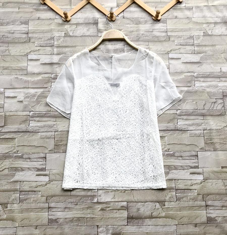 ส่ง:งานจีนเสื้อลูกไม้แต่งซีทรูช่วงบน/อก36