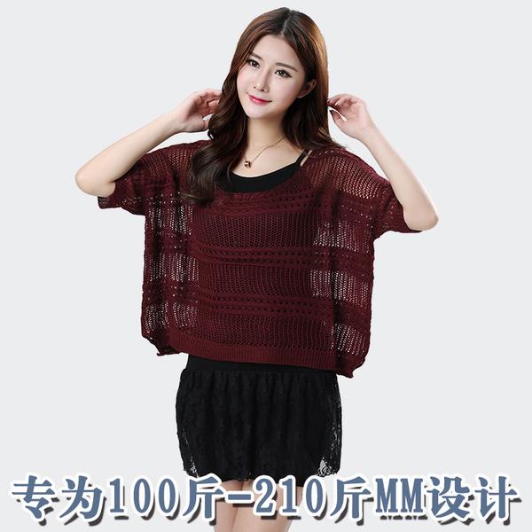 Set 2 ชิ้น ชุดเดรสแขนกุดผ้ากำมะหยี่+เสื้อไหมพรม สีดำ/สีน้ำตาลแดง (2XL,3XL,4XL)