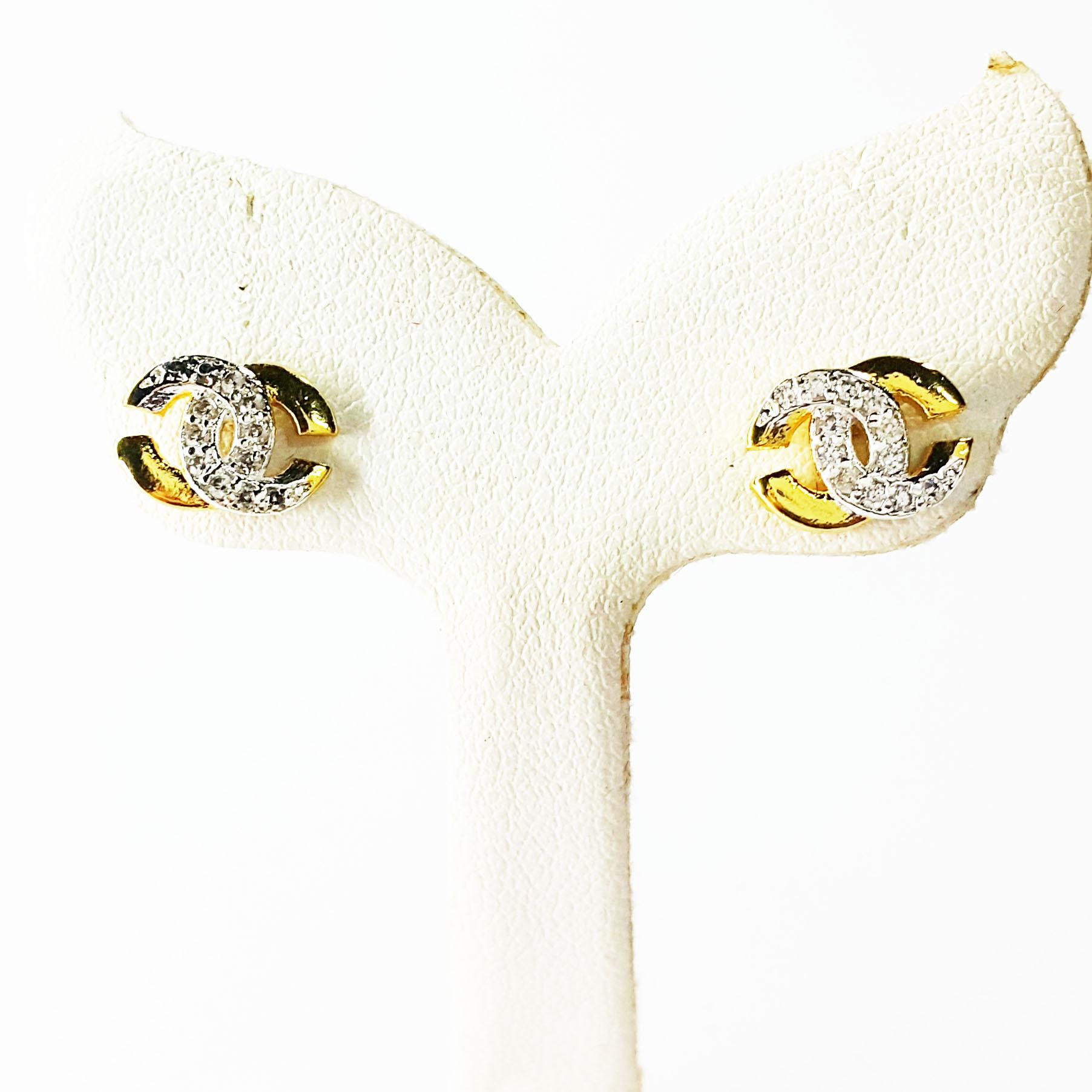 INSPIRE JEWELRY ต่างหู หุ้มทองแท้ 100% or gold plated ฝังเพชรสวิส