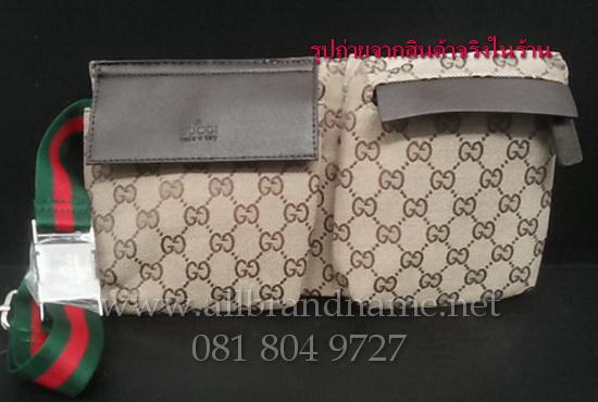 """กระเป๋าสะพาย คาดเอว Gucci ขนาด 6.5""""x 12"""""""