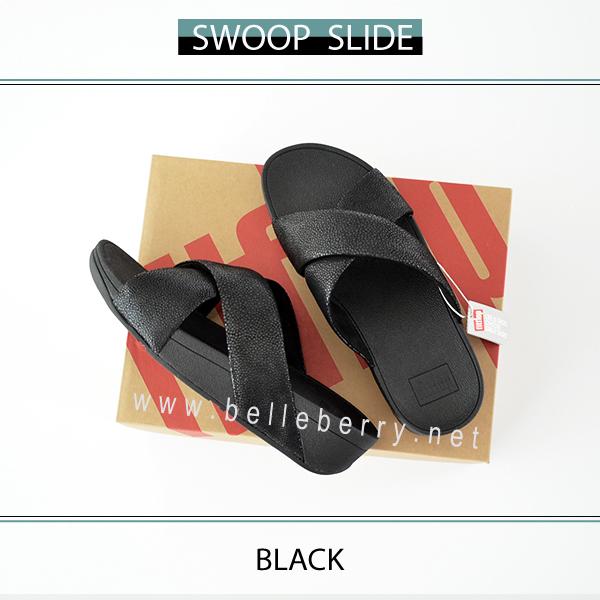 FitFlop : Swoop Slide : Black : Size US 8 / EU 39