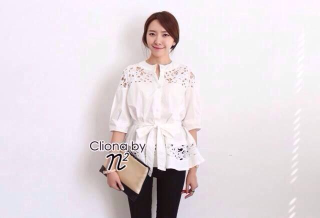 Fairytale White Embroidery Blouse