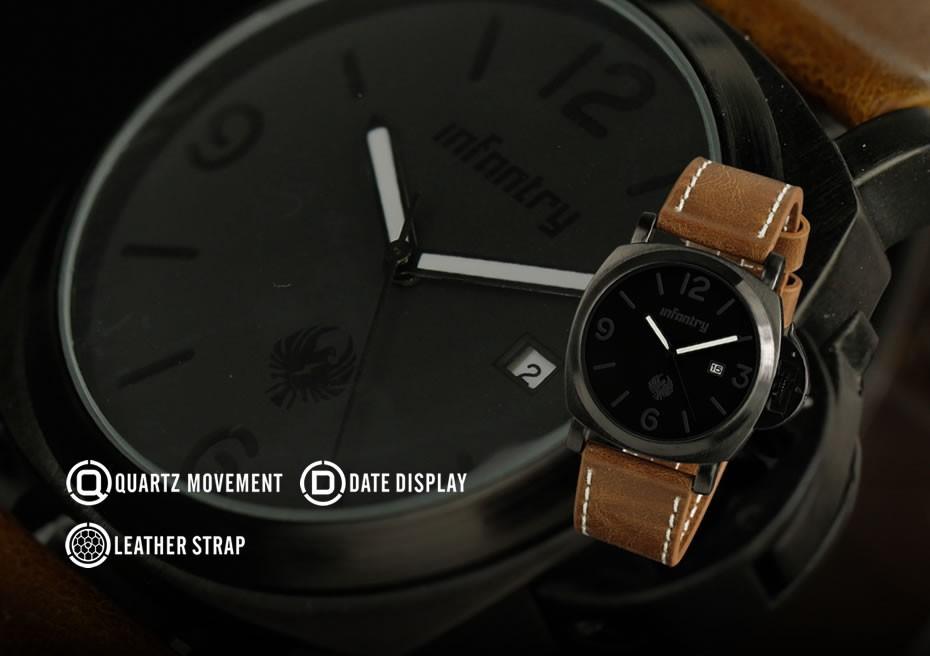 นาฬิกา Infantry แท้! รุ่น IN-025-ALLB-L