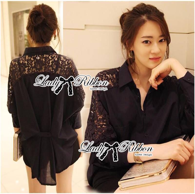 Lady Ribbon's Made Lady Evrika Sweet Vintage Lace Shirt
