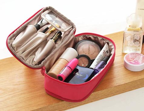 กระเป๋าเก็บเครื่องสำอางค์ เครื่องประดับเวลาเดินทาง
