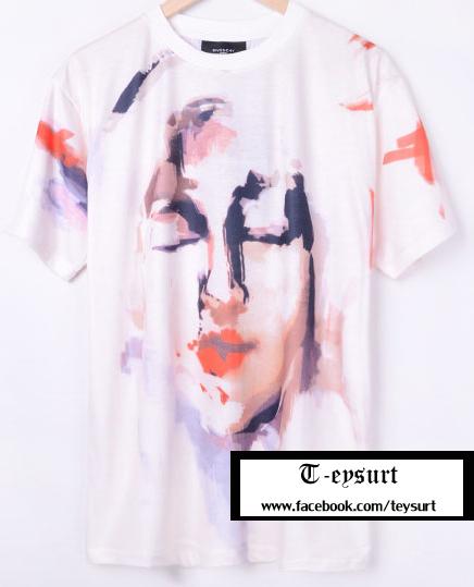 เสื้อGivenchy AbstactMadonna-Print BestMirror