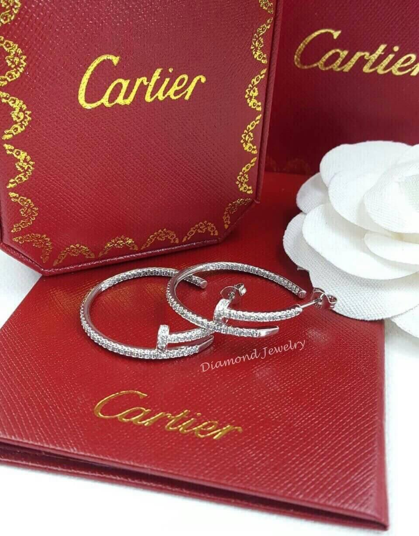 พร้อมส่ง ต่างหู Cartier งานเพชร CZ ฝังอย่างด