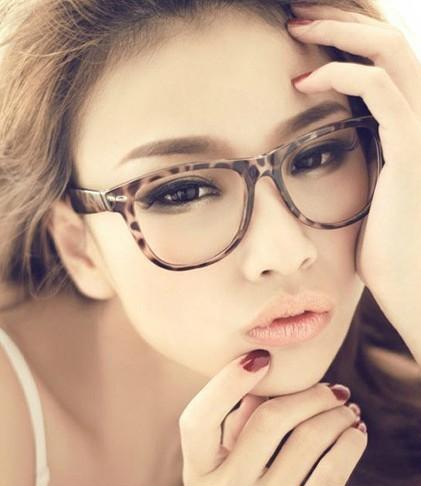 แว่นตาแฟชั่นเกาหลี เสือดาว (ไม่มีเลนส์)