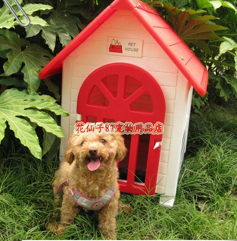 บ้านสุนัข บ้านแมวพลาสติ วัสดุแข็งแรงทนทาน ระบายอากาศได้ดี