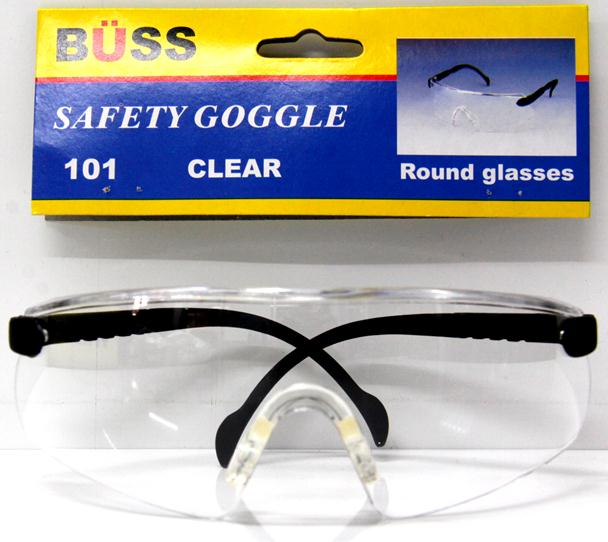 แว่นตากันสะเก็ด BUSS (ทรงกลม สีดำ)