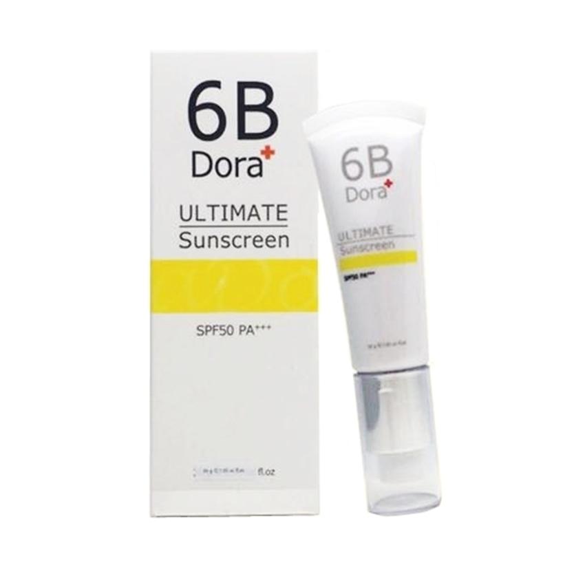 6B Dora+ ULTIMATE Sunscreen SPF50 PA+++ ดอร่า อัลติเมท ซันสกรีน เอสพีเอฟ 50 บล็อกแดด กันแดดเนื้อมูส