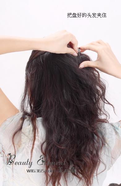 hair piece ติดผมทนความร้อนเกาหลี (สีดำ)