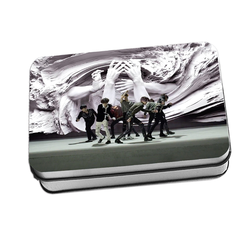 LOMO CARD+กล่องเหล็ก BTS FAKE LOVE 40 รูป