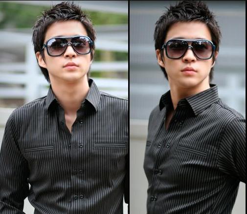 แว่นตากันแดดแฟชั่นเกาหลี กรอบดำมัน