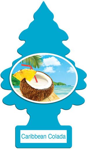 Little Trees กลิ่น Caribbean Colada หอมหวานกลิ่นน้ำสับปะรดและน้ำมะพร้าวที่ผสมกันได้อย่างลงตัว