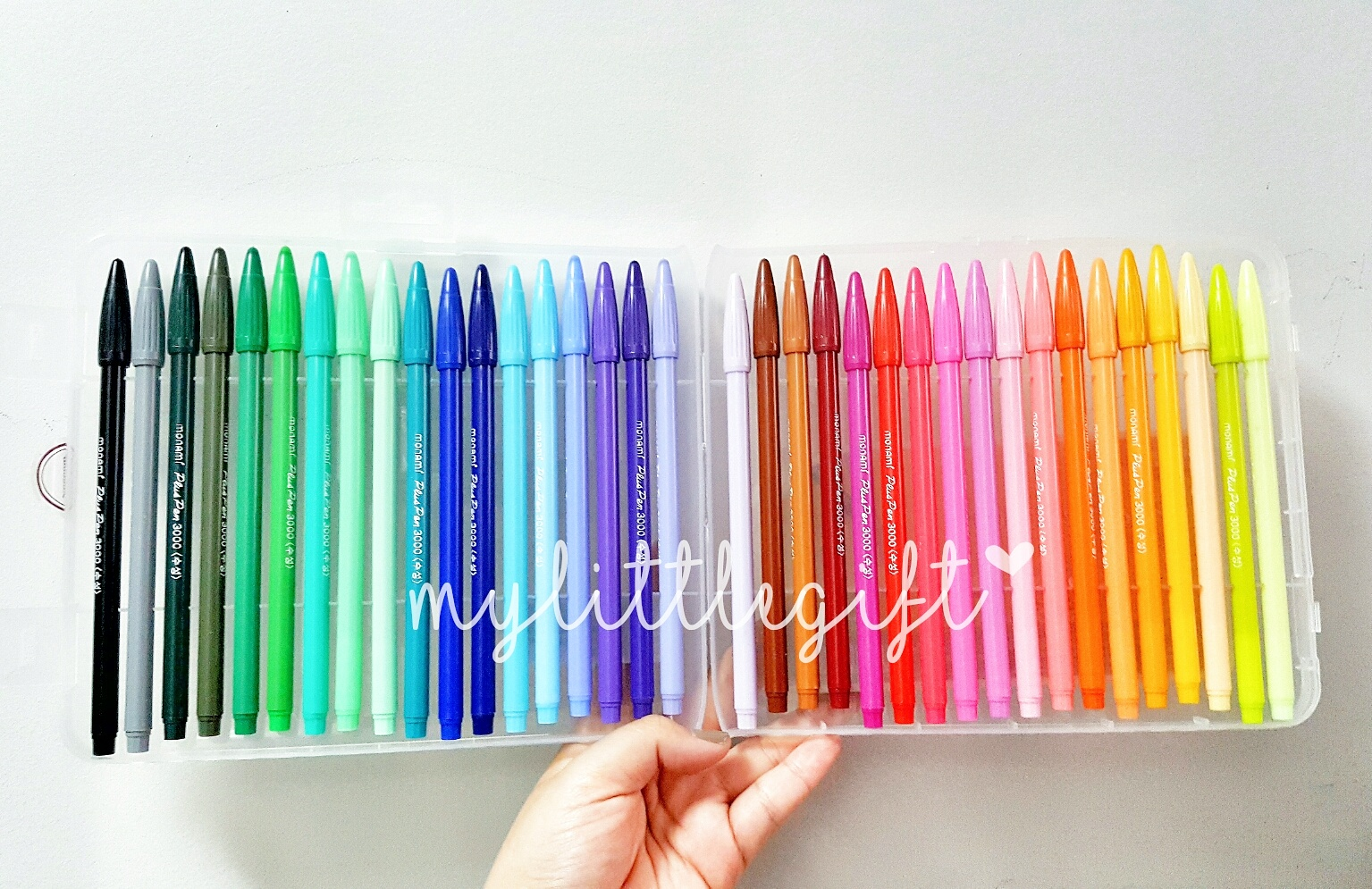 MONAMI Plus Pen 3000 : Set 36 Colors with box