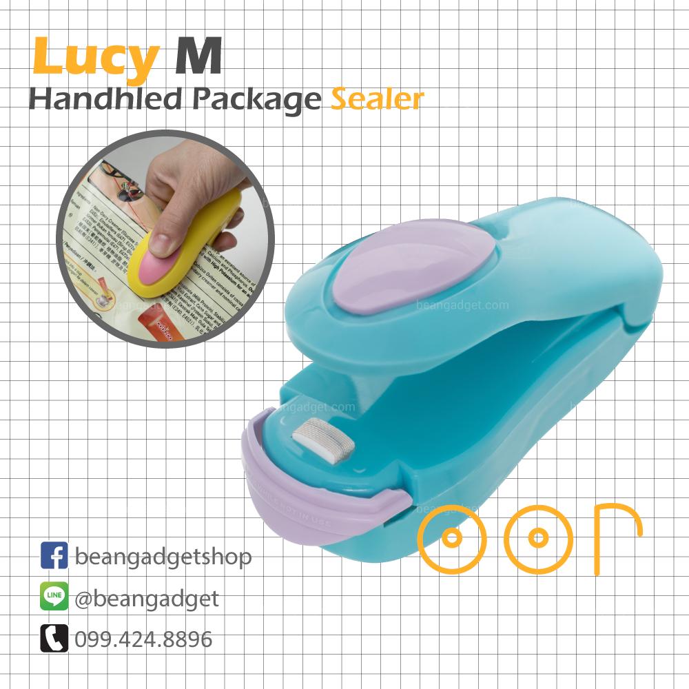 ซีลถุงแบบพกพา Lucy M mini portable handy plastic bag sealer OOP - Blue สีเขียวน้ำเงิน