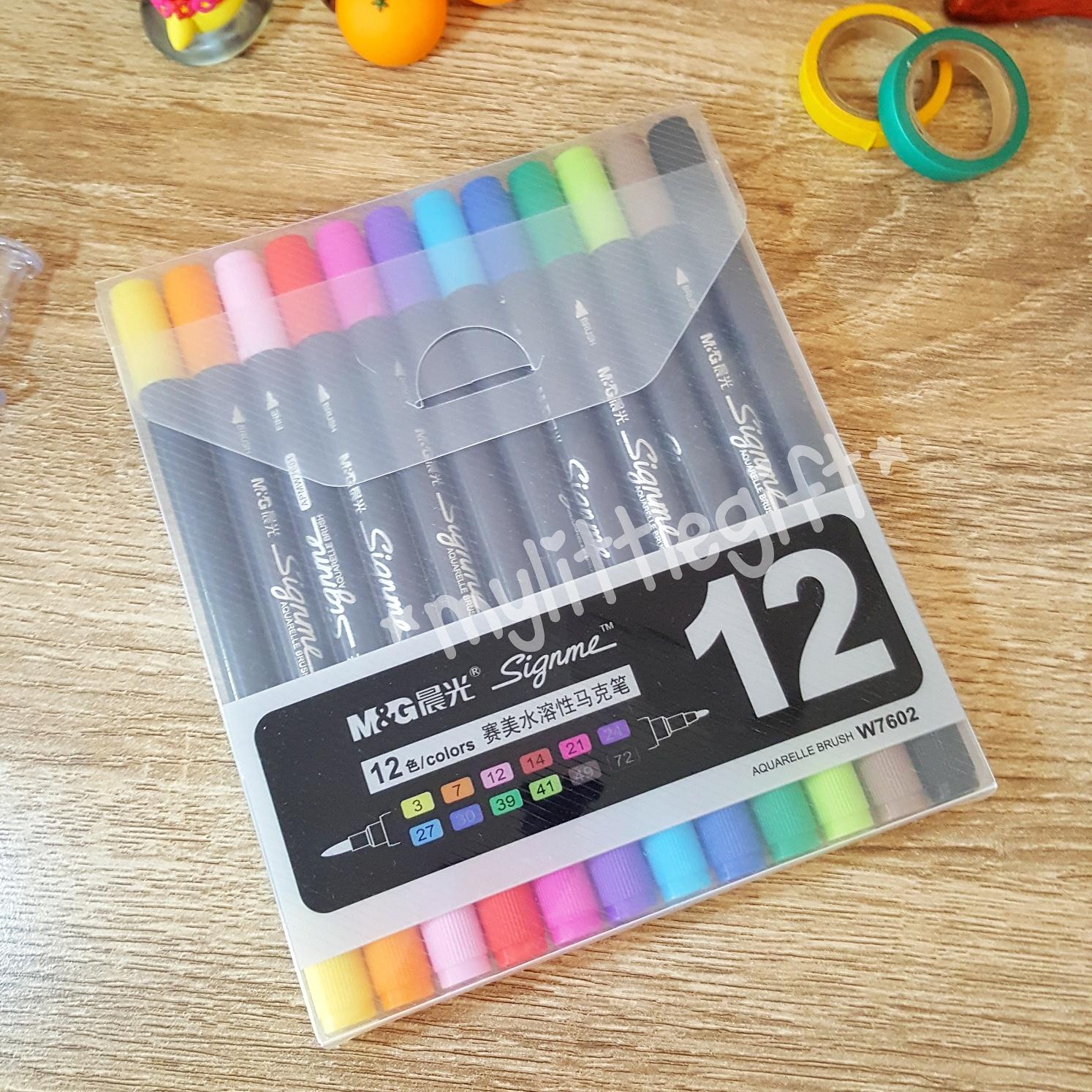 M&G Signme 12 colors Aquarelle Brush
