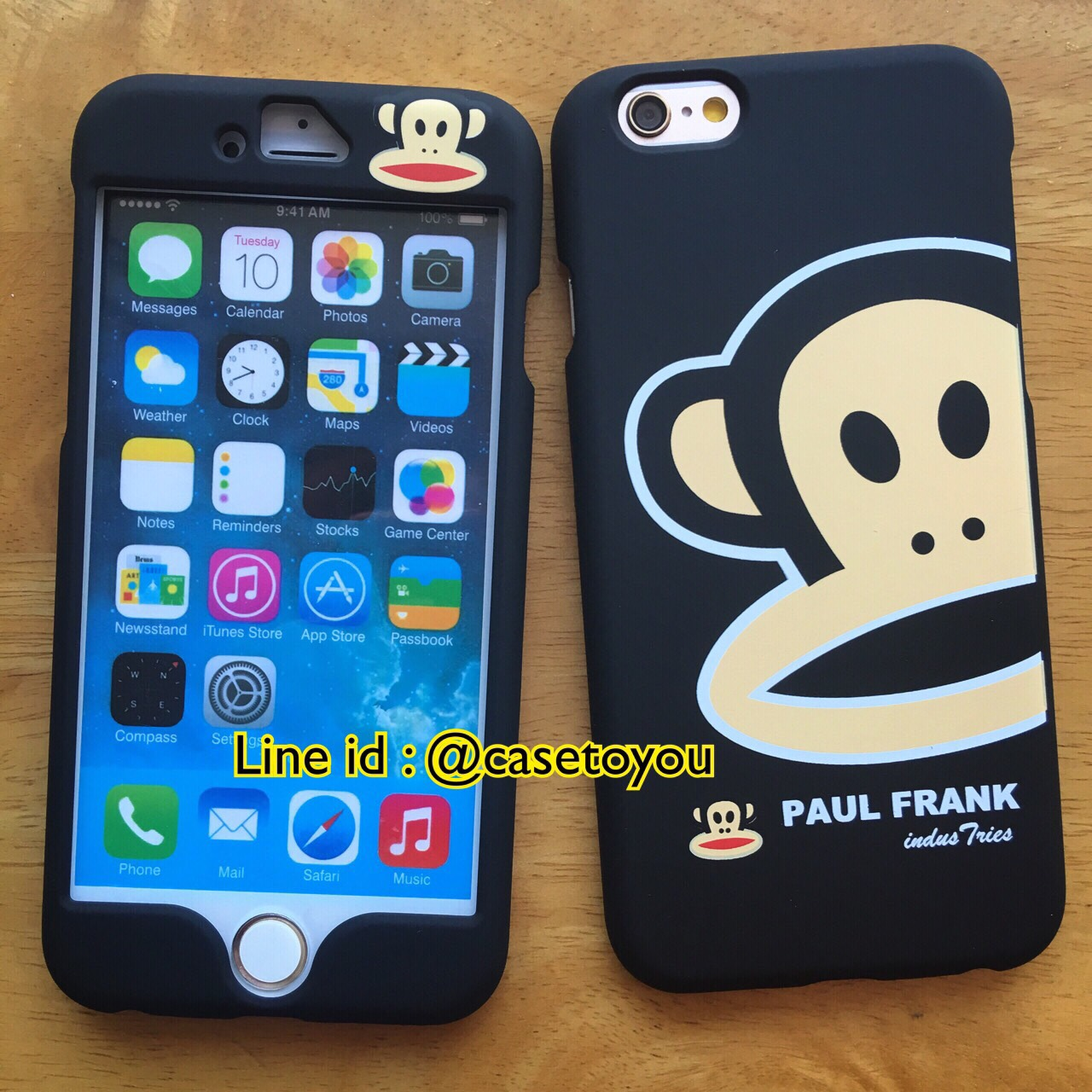 เคสประกบหน้า-หลัง Paulfrank ดำ iPhone 6/6S