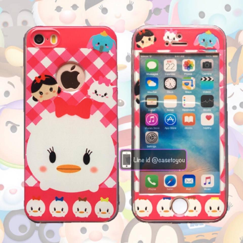 เคสประกบหน้าแข็ง หลังนิ่ม Daisy Duck iPhone 7