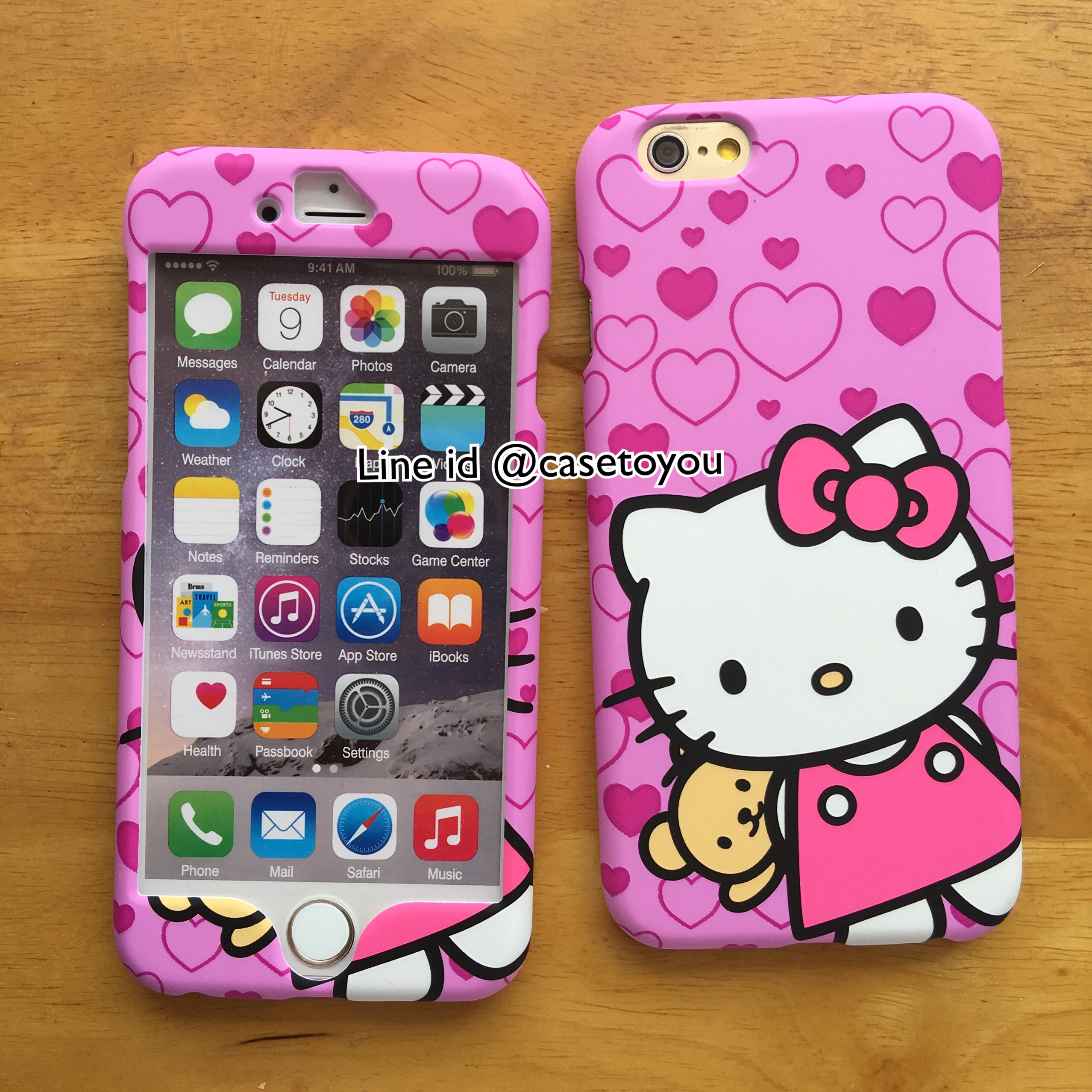 เคสประกบหน้า-หลัง Kitty 02 iPhone 6/6S