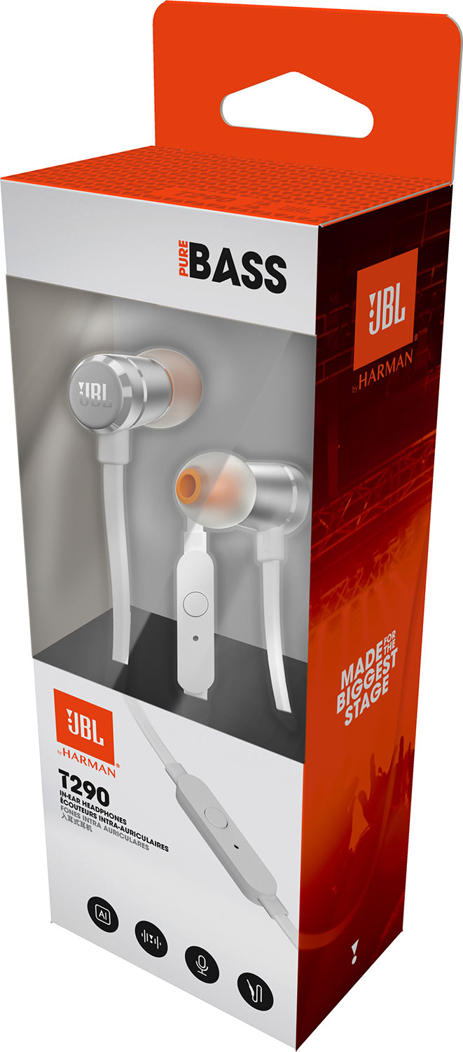 JBL T290 In-Ear Headphone - Silver 1,490 บาท