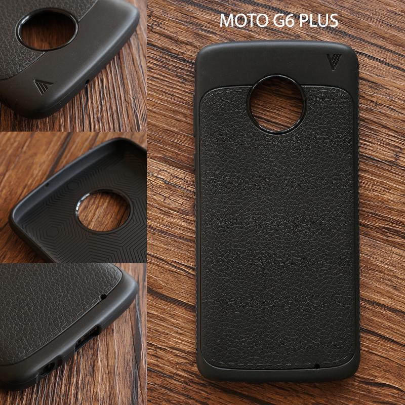 เคส MOTO G6 PLUS เคสนิ่มเกรดพรีเมี่ยม ลายหนัง (ขอบนูนกันกล้อง) แบบที่ 1