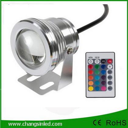 โคมไฟ LED ตกแต่งสวน เปลี่ยนสี RGB 10w พร้อม รีโมท