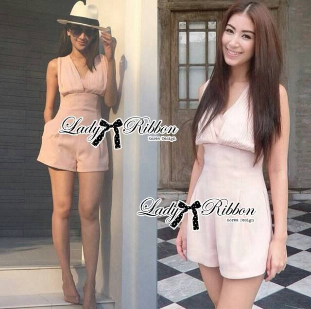 Lady Ellie Blushed Rose Pleated Jumpsuit L128-75C04