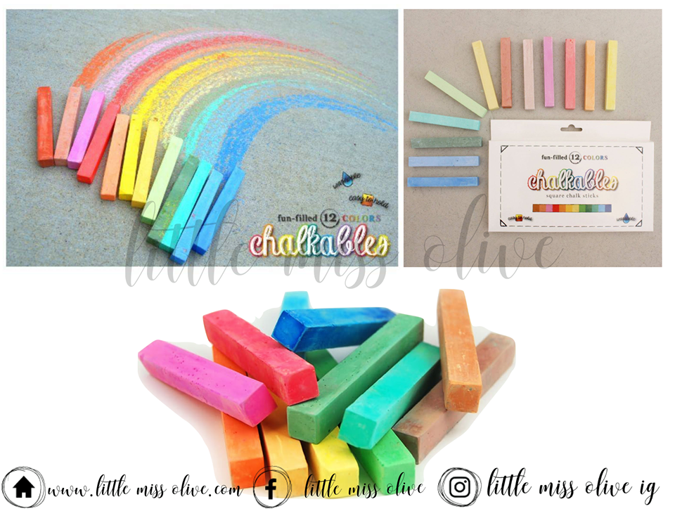Chalkables Square Chalkboard Chalk Sticks