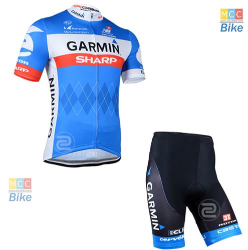 ชุดปั่นจักรยาน แบบชุดทีมแข่ง ทีม Garmin ขนาด L พร้อมส่งทันที รวม EMS