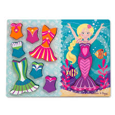 Chunky Puzzle Dress Up Mermaid