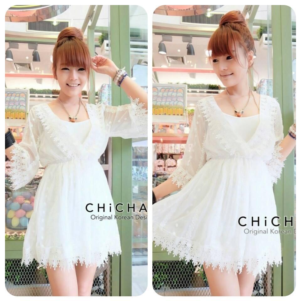 V neck sleev mini dress C170-63A02